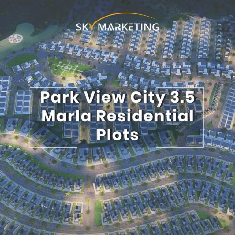 park view city 3.5 Marla Residential Plots