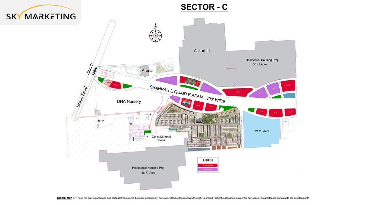 DHA Multan Master Plan Sector C