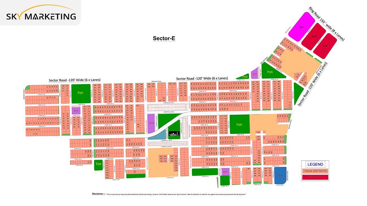 DHA Multan Master Plan Sector E