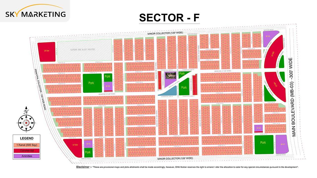 DHA Multan Master Plan Sector F