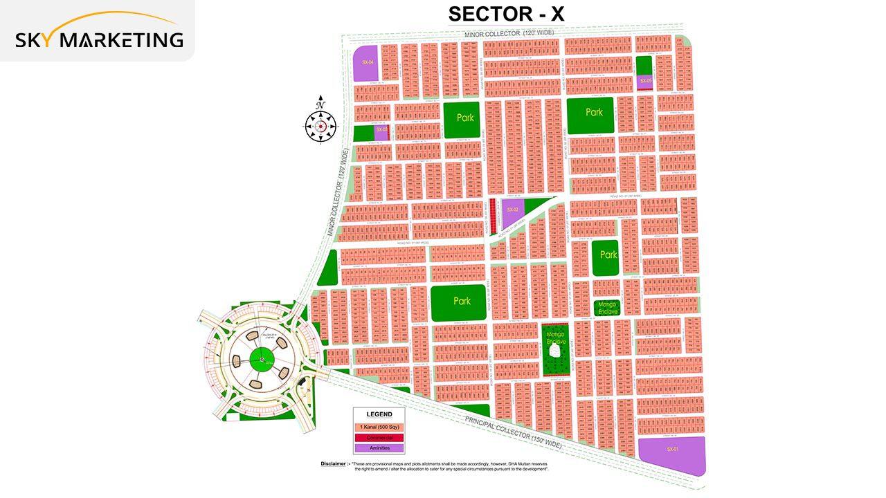 DHA Multan Master Plan Sector X