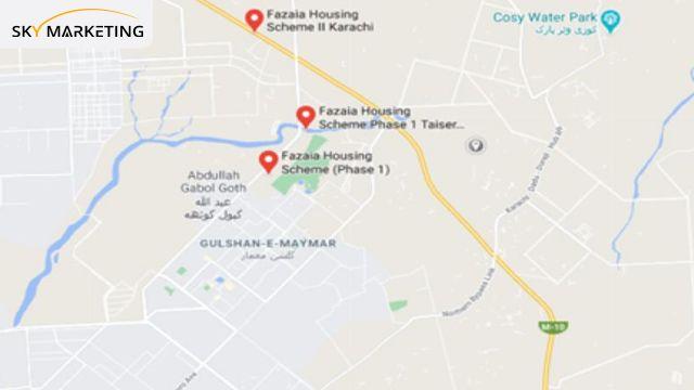 fazaia housing scheme karachi Location