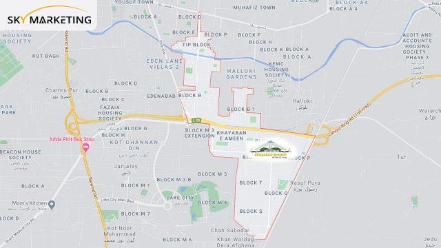 Khayaban E Amin Map