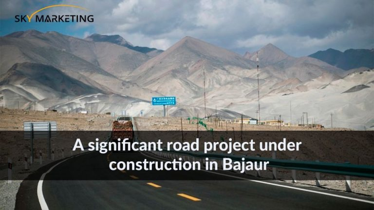 A significant road project under construction in Bajaur