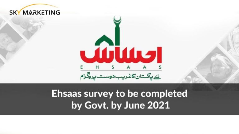 Ehsaas survey to be completed by Govt. by June 2021