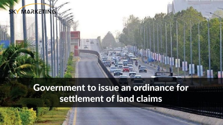 Government to issue an ordinance for settlement of land claims