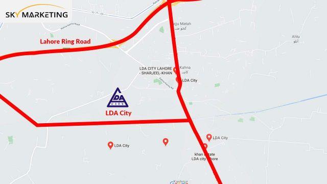 LDA City Lahore Map