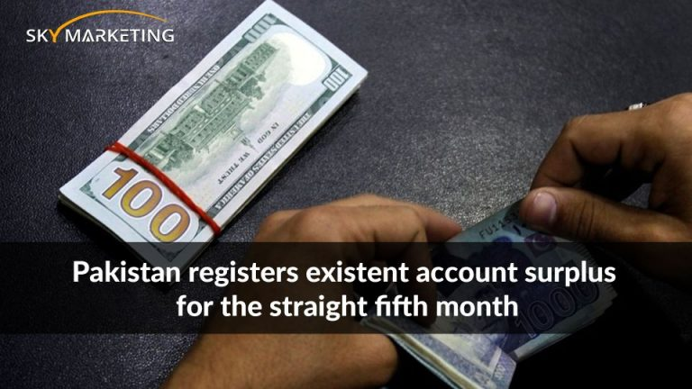 Pakistan registers existent account surplus for the straight fifth month