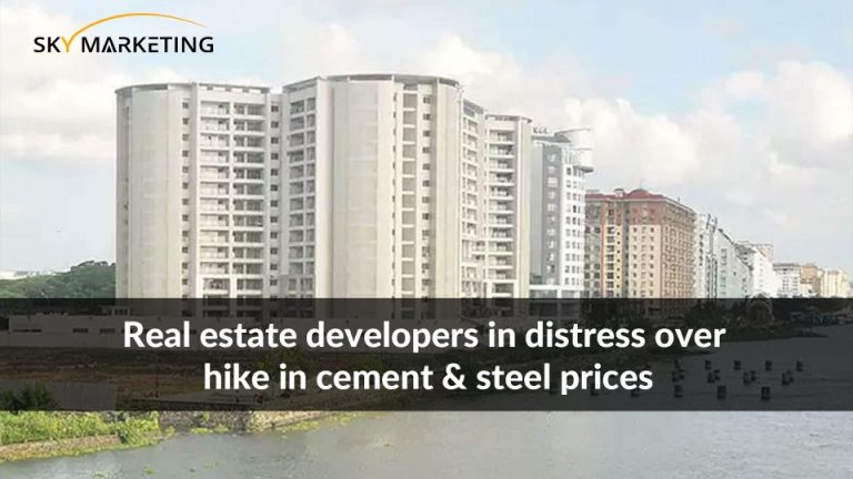 Real estate developers in distress over hike in cement & steel prices