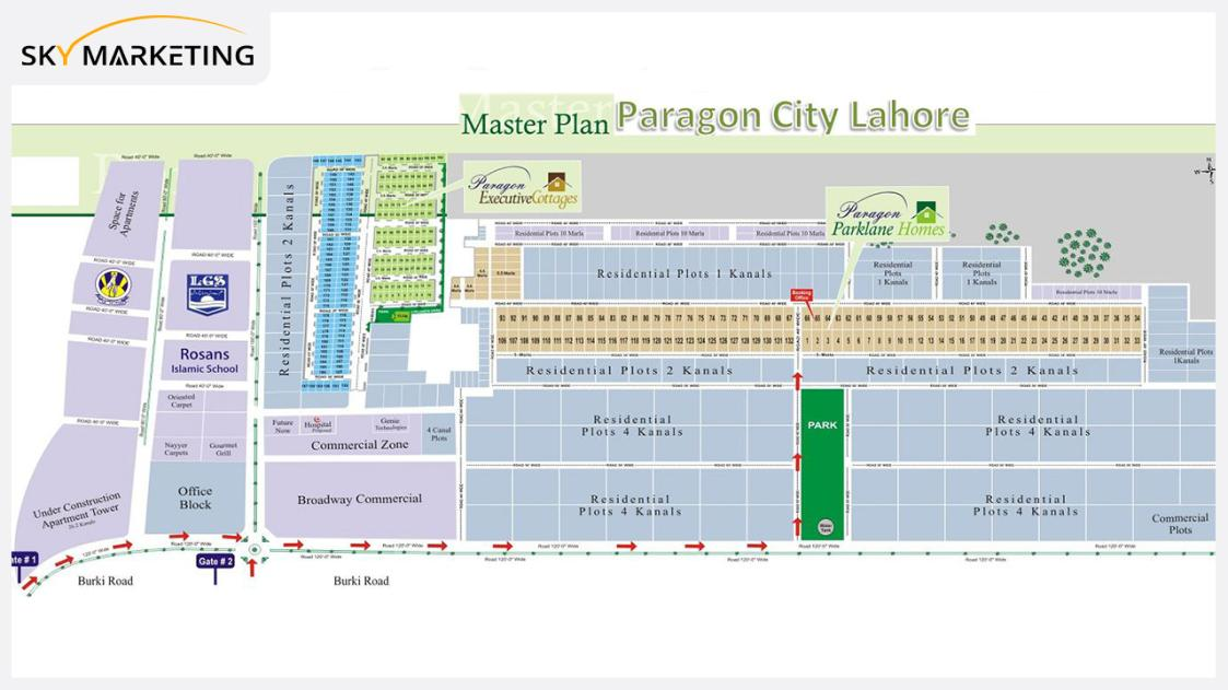 Paragon City Lahore Master Plan