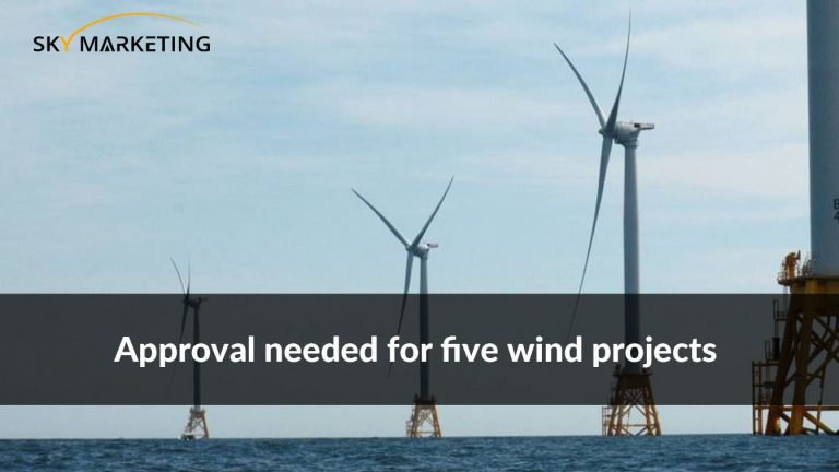 Approval needed for five wind projects