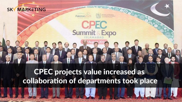CPEC projects value increased as collaboration of departments took place