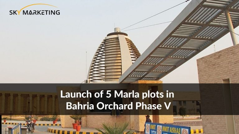 Launch of 5 Marla plots in Bahria Orchard Phase V
