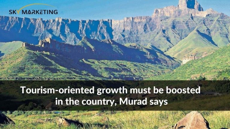 Tourism-oriented growth must be boosted in the country, Murad says