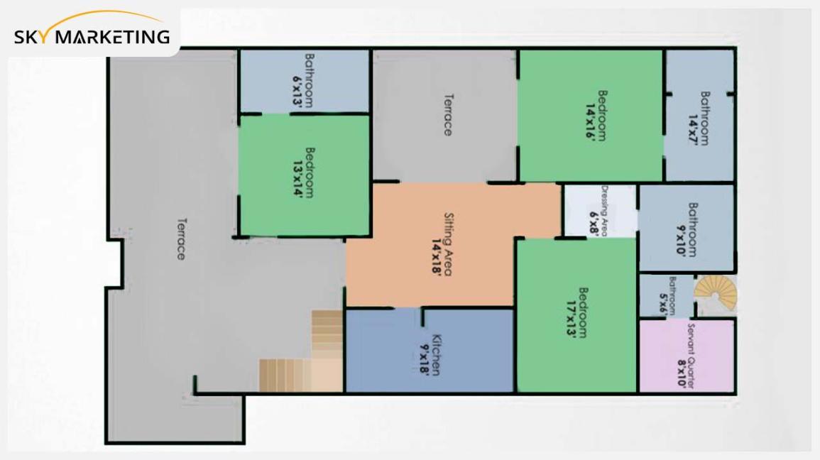 Floor Plan E for the First Floor