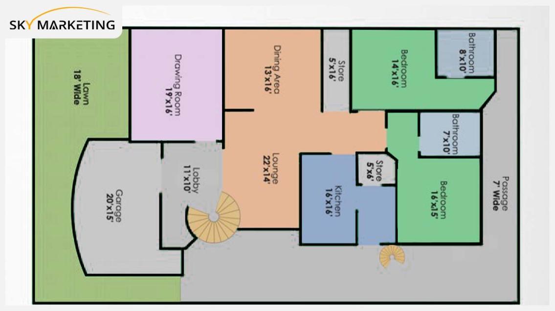 Floor Plan B for the First Floor