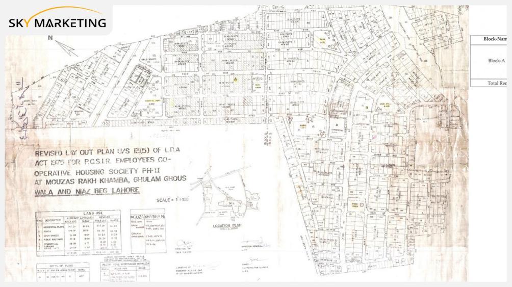 PCSIR Housing Society Lahore Master Plan