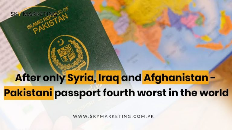 After only Syria, Iraq and Afghanistan - Pakistani passport fourth worst in the world