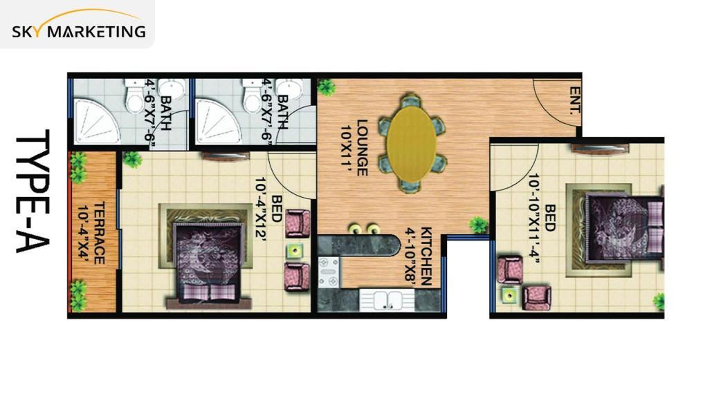 Floor Plan Gohar Green City Residential Plots Type A