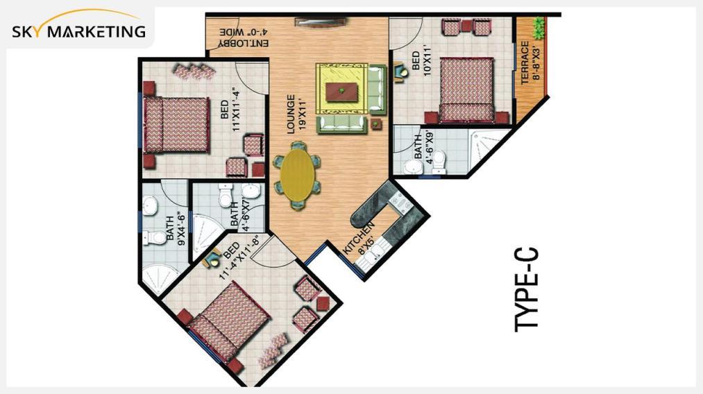 Floor Plan Gohar Green City Residential Plots Type B: