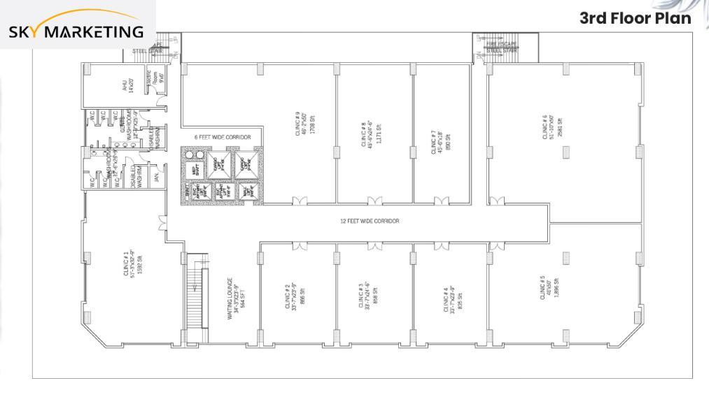 Florence Galleria Floor Plan 3rd Floor