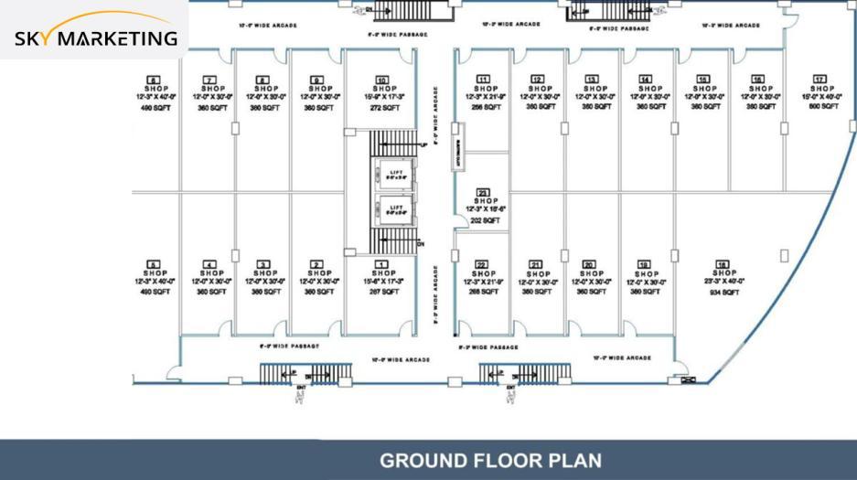 Opal Square Gulberg Ground Floor Plan