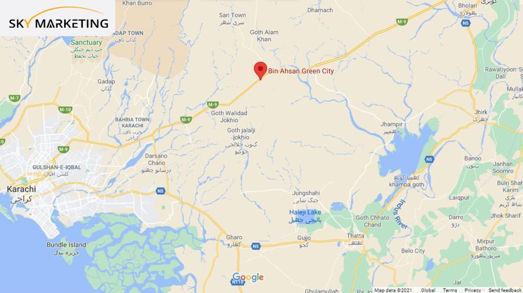 Bin Ahsan Green City Karachi Location
