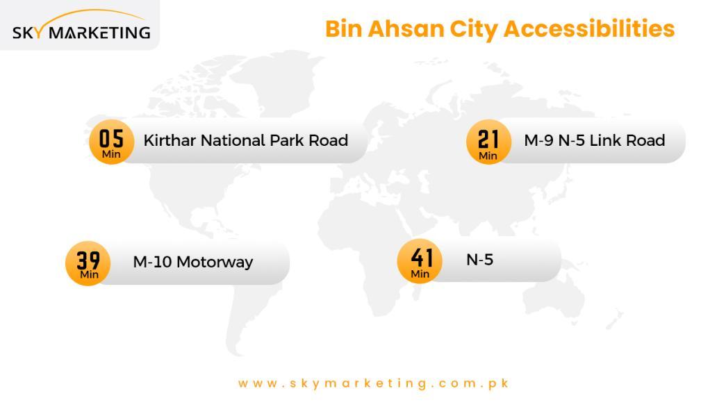 Bin Ahsan Green City karachi accessibilities