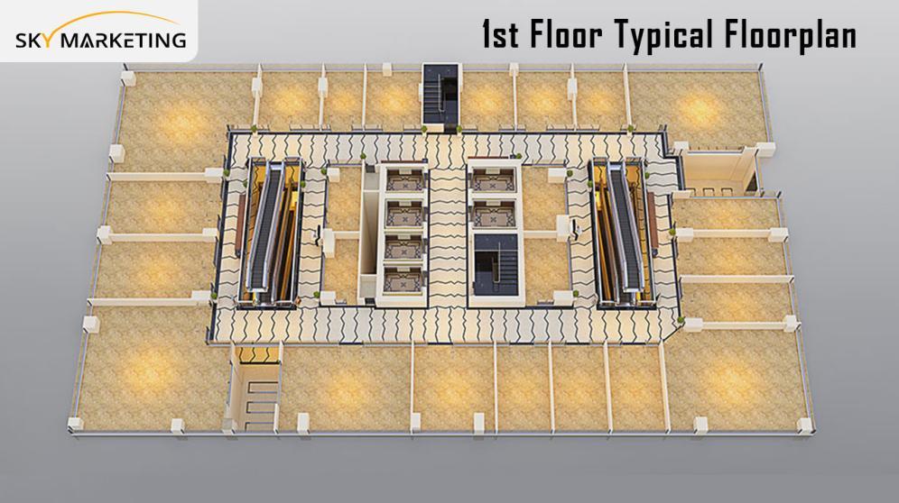 Elysium Mall Islamabad 1st Typical Floor Plan