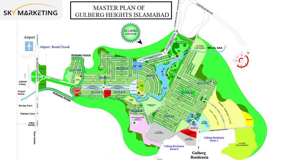 Gulberg Heights Islamabad Master Plan