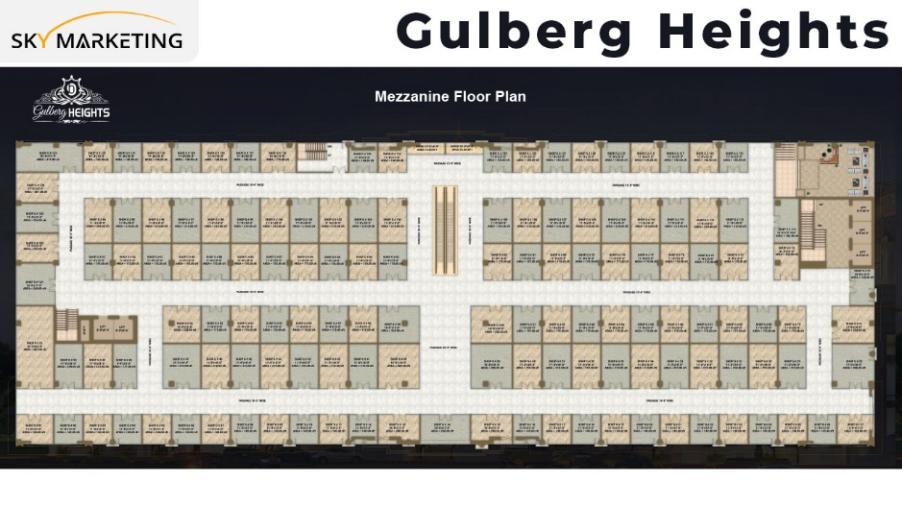 Gulberg Heights Mezzanine Floor Plan