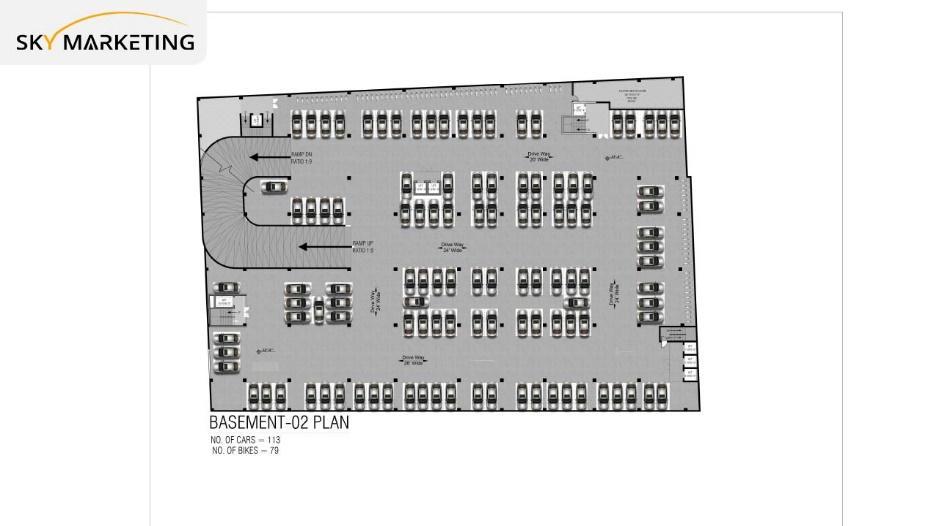 Galaxy Mall Islamabad Basement 2 Floor Plan