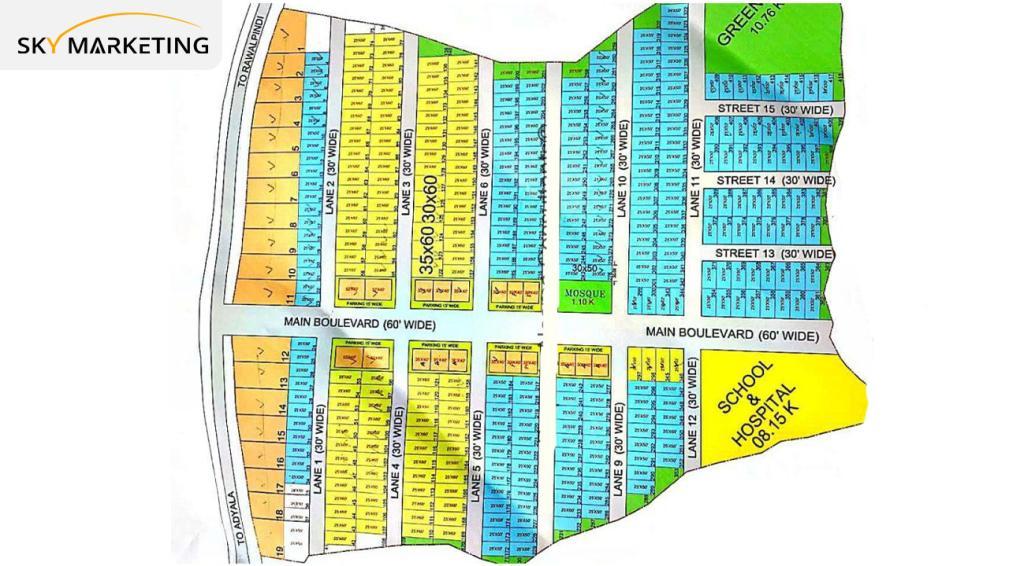 Rose Valley Rawalpindi Master Plan